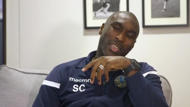vidéos et rushes de former england captain and macclesfield town manager sol campbell gives an emotional account of two disallowed goals he scored for england and how... - var