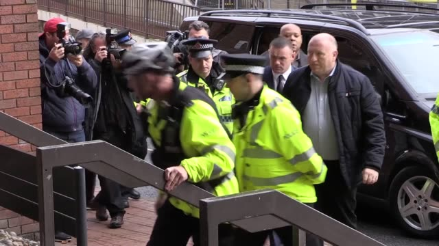 former england captain wayne rooney has arrived at court to face a drink drive charge. the everton striker made no comment as he was confronted by a... - hands in pockets stock videos & royalty-free footage