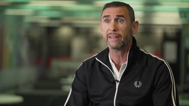"""former england defender martin keown saying england's players can """"create their own history"""" in their euro 2020 second round match against germany - creativity stock videos & royalty-free footage"""