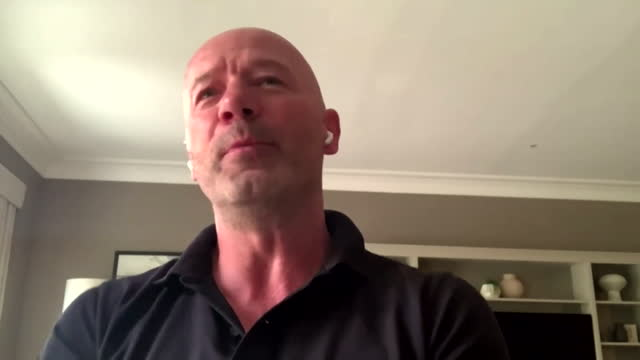 """former england striker alan shearer saying he is """"so excited"""" for england's second round match against germany - excitement stock videos & royalty-free footage"""