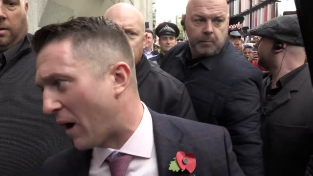 former english defence league leader tommy robinson is facing fresh contempt of court proceedings the 36yearold was jailed for 13 months in may 2018... - criminal stock videos and b-roll footage