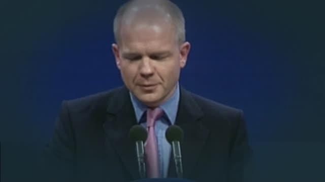 Former Euosceptic William Hague to oppose the UK leaving the European Union BSP071099034 / 7101999 William Hague MP addressing party conference