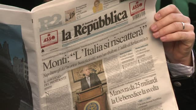 former european commissioner mario monti moved on monday to form a new government to lead italy out of an alarming debt crisis that has shaken the... - former stock videos & royalty-free footage