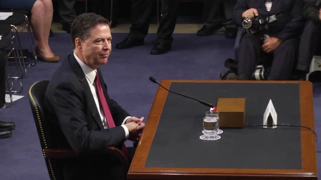former fbi director james comey testifies before the senate intelligence committee in the hart senate office building on capitol hill june 8, 2017 in... - testimony stock videos & royalty-free footage
