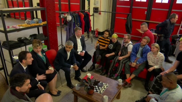 former fire station in clerkenwell becomes uk's first homeless shelter for lgbt people england london clerkenwell int various of london mayor sadiq... - sadiq khan stock videos and b-roll footage