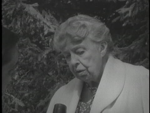 former first lady eleanor roosevelt says that soviet premier nikita khrushchev's visit to the us will enable him to recognize the value of freedom. - 1950 1959 stock videos & royalty-free footage