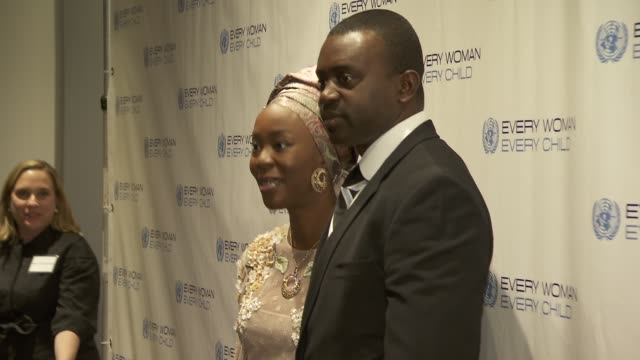 former first lady of kwara state nigeria toyin saraki and guest at united nations every woman every child dinner 2012 at moma on september 25 2012 in... - dinner lady stock videos & royalty-free footage