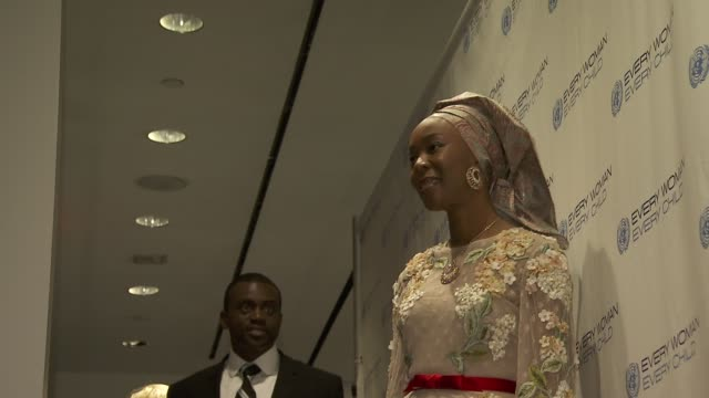 former first lady of kwara state nigeria toyin saraki at united nations every woman every child dinner 2012 at moma on september 25 2012 in new york... - dinner lady stock videos & royalty-free footage
