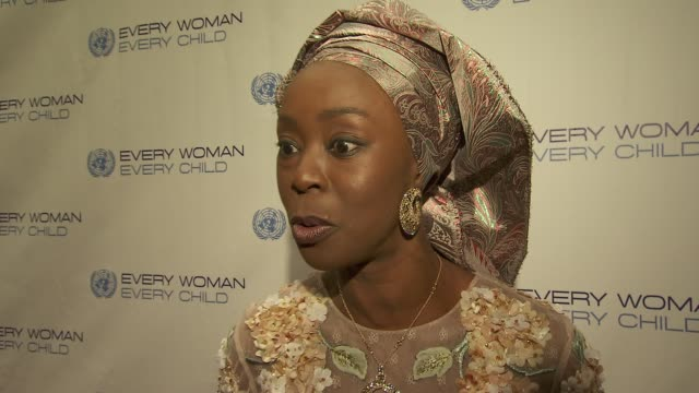 former first lady of kwara state nigeria toyin saraki talks about how the organization the wellbeing foundation which she founded supports the every... - dinner lady stock videos & royalty-free footage