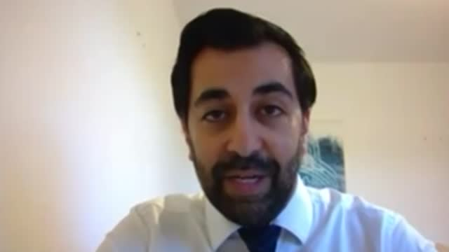 former first minister alex salmond launches the alba party to contest scottish parliament elections; scotland: int humza yousaf interview via... - contestant stock videos & royalty-free footage