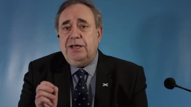 former first minister alex salmond launches the alba party to contest scottish parliament elections; part 3 of 5 scotland: edinburgh: int alex... - parliament hill stock videos & royalty-free footage