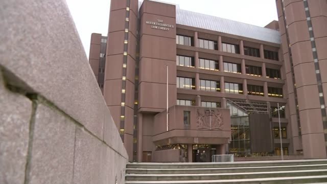 Former football coach Barry Bennell found guilty of sex assaults on young boys ENGLAND Liverpool Liverpool Crown Court EXT Wall PAN court building...