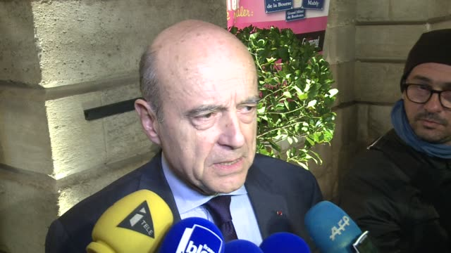 Former French foreign minister Alain Juppe a likely rival of Nicolas Sarkozy in the run up to the next presidential election and founder of the UMP...