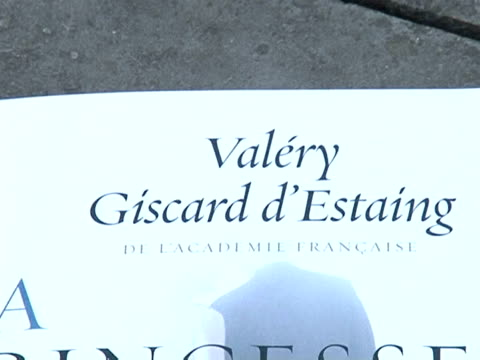 former french president valery giscard d'estaing's latest book is the talk of the town on both sides of the channel. paris, paris, france. - president of france stock videos & royalty-free footage