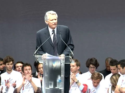 former french prime minister dominique de villepin on saturday launched a new political party setting his sights on challenging longtime rival... - former stock videos & royalty-free footage
