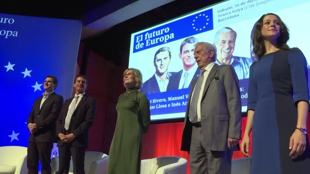 Former French Prime Minister Manuel Valls and Nobel laureate in literature Mario Vargas Llosa are in Barcelona to meet and support regional elections...