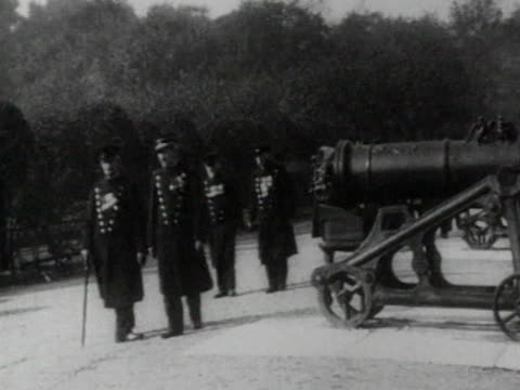 former french soldiers, who participated in crimean war, visiting battle of malakoff site in sevastopol - ukraine stock-videos und b-roll-filmmaterial