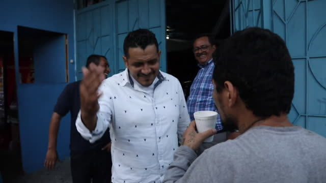 former gang member just released from prison in san salvador welcomed to eben ezer church by reformed gang member turned pastor will gomez - pastor stock videos & royalty-free footage