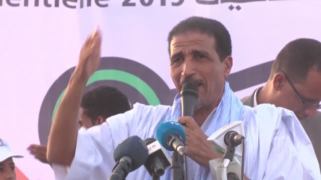 former general mohamed ould ghazouani frontrunner in mauritania's presidential election and an ally of president mohamed ould abddel aziz addresses... - former stock videos and b-roll footage
