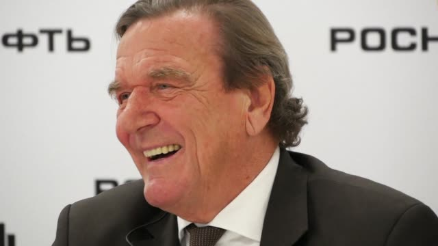 Former German Chancellor Gerhard Schroeder announces that he will chair the board of Russia's state controlled oil major Rosneft after shareholders...