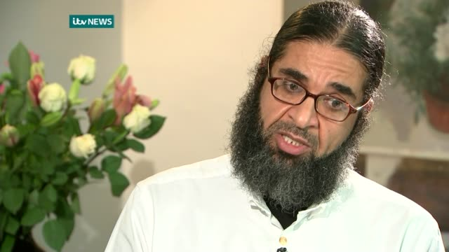 former guantanamo detainee shaker aamer speaks out following his return to uk london int shaker aamer set up shots / interview sot when i saw john... - shaker aamer stock videos & royalty-free footage