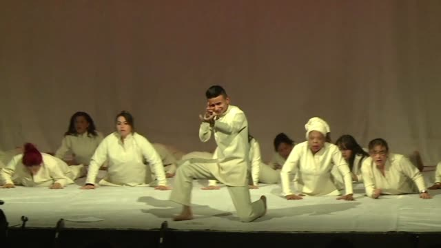 vídeos de stock, filmes e b-roll de former guerrillas ex paramilitaries retired soldiers and civilians come together to act in a play with the hope of healing wounds from colombia's... - civil