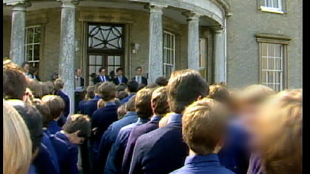 Former headmaster found guilty of abusing boys EXT Boys outside school for assembly One boy interview SOT Things I've read aren't true everybody...