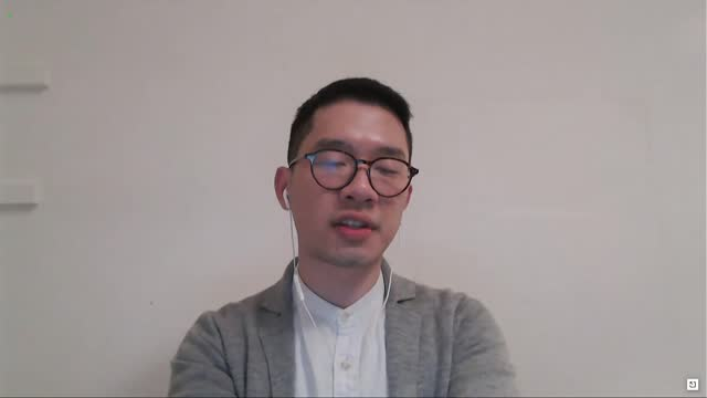 former hong kong legislative council member nathan law says by videoconference in statement to senate judiciary subcommittee at hearing on hong kong... - non urban scene stock-videos und b-roll-filmmaterial