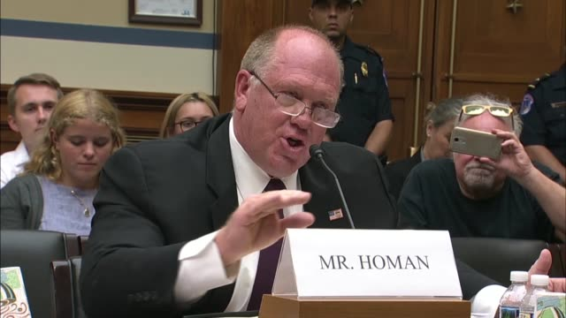 Former Immigration and Customs Enforcement Acting Director Thomas Homan says at a House Oversight and Reform Committee hearing not to forget Angel...