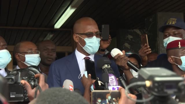 former international football star didier drogba officially submits his candidacy for the presidency of the ivorian football federation in abidjan... - former stock videos & royalty-free footage