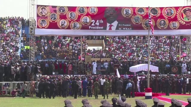 Former international football star George Weah is sworn in as Liberia's new president in the country's first transition between democratically...