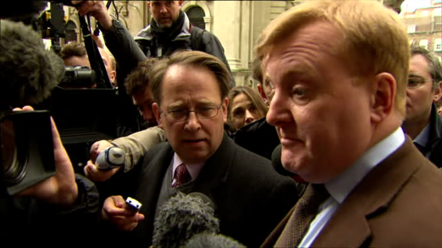 former liberal democrats leader charles kennedy speaking to reporters about potential coalition with conservatives after 2010 general election - charles kennedy stock videos & royalty-free footage