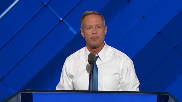 Former Maryland Governor and 2016 presidential hopeful Martin O'Malley tells convention delegates Donald Trump not fight for America but feeds off...