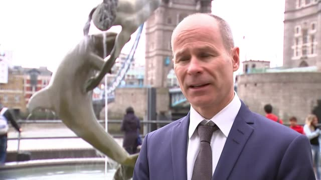 former masterchef contestast dies during the london marathon; england: london: tower bridge: ext hugh brasher interview sot - masterchef stock videos & royalty-free footage