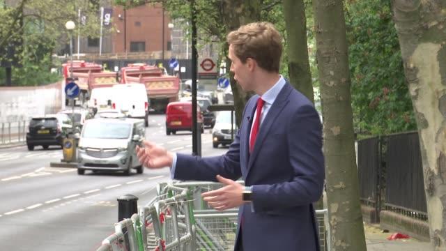 former masterchef contestast dies during the london marathon; ext reporter to camera - masterchef stock videos & royalty-free footage