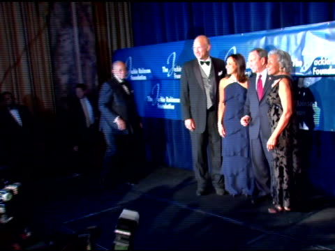 former mayor david dinkins and mayor mike bloomberg, della britton baeza, leonard coleman and rachel robinson at the the 2007 annual jackie robinson... - former stock videos & royalty-free footage