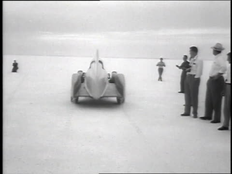 former mayor of salt lake city races car at bonneville salt flats / bonneville utah united states - bonneville salt flats stock videos and b-roll footage
