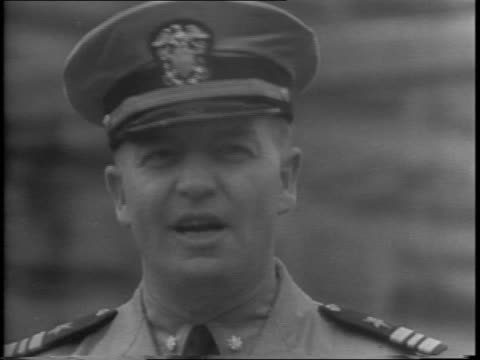 former minnesota governor harold e stassen gives statement to camera about joining the navy after being governor of minnesota, staying neutral about... - former stock videos & royalty-free footage