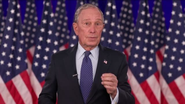 former new york city mayor mike bloomberg says in broadcast remarks to the 2020 democratic national convention he had never been much for partisan... - partisan politics stock videos & royalty-free footage