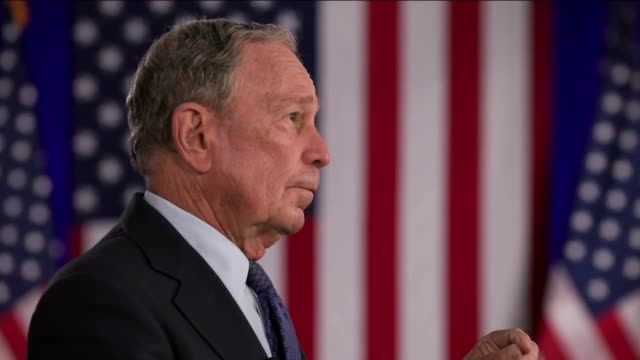 former new york city mayor mike bloomberg says in broadcast remarks to the 2020 democratic national convention that when confronted with the biggest... - biggest stock videos & royalty-free footage