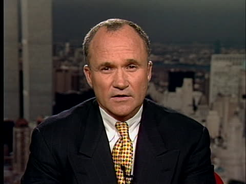 former new york city police commissioner ray kelly comments on the oklahoma city bombing. - oklahoma city bombing stock videos & royalty-free footage