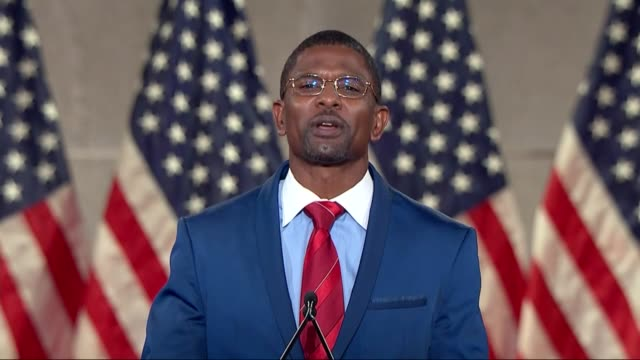 former nfl player and jack brewer says in remarks to the 2020 republican national convention that is early high school expense included fighting... - zen like stock videos & royalty-free footage