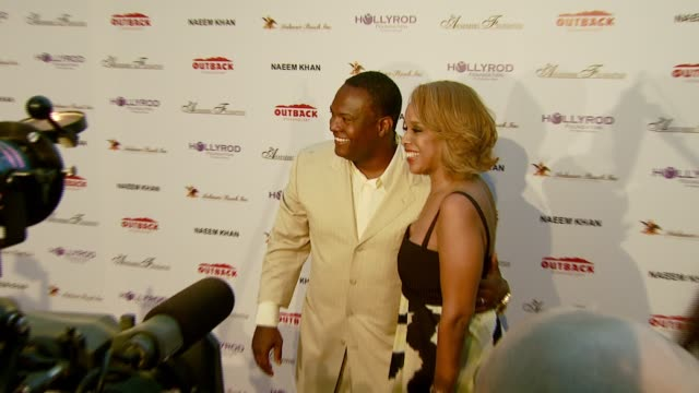former nfl player rodney peete and gayle king at the designcare 2007 at the home of tammy and eric gustavson in malibu california on july 22 2007 - gayle king stock videos & royalty-free footage