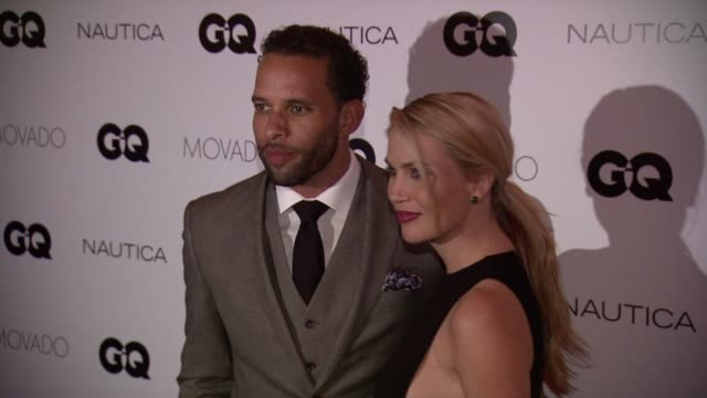vídeos de stock, filmes e b-roll de former nfl player ryan nece and willa ford at gq gentlemen's cocktail reception + awards ceremony at the gent on october 22, 2015 in new york city. - willa ford