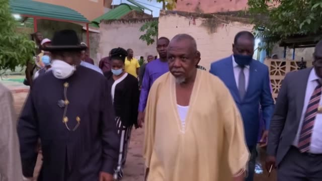 former nigerian president goodluck jonathan who led the mediation mission of the economic community of west african states to mali in an effort to... - former stock videos & royalty-free footage