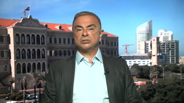 """former nissan ceo carlos ghosn saying he feels sorry for everyone who is """"a victim of the hostile justice system in japan"""" - """"bbc news"""" stock videos & royalty-free footage"""