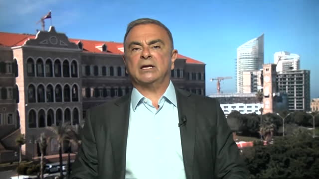 """former nissan ceo carlos ghosn saying there are things he """"would have done differently"""" - """"bbc news"""" stock videos & royalty-free footage"""
