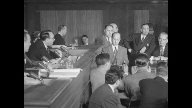 ms former nyc mayor william o'dwyer testifies before the us senate special committee on organized crime in interstate commerce counsel rudolph halley... - former stock videos & royalty-free footage