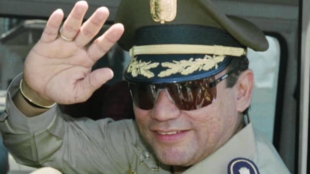 vídeos y material grabado en eventos de stock de former panamanian dictator manuel antonio noriega died at 83 in panama city's public santo tomas hospital where he had been recovering from surgery... - telencéfalo