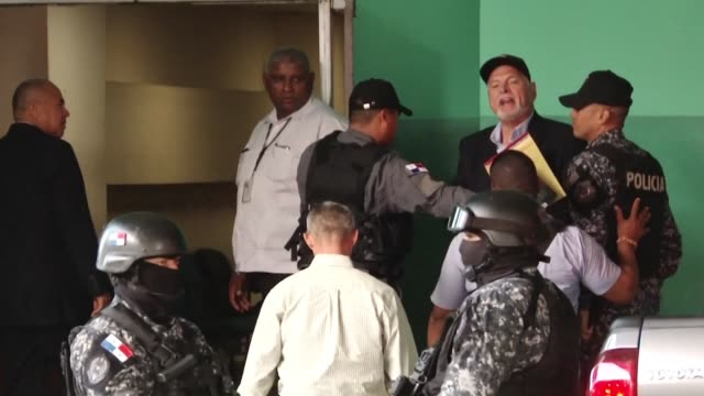 former panamanian president ricardo martinelli arrives for his trial in panama city over alleged wiretapping during his 2009 2014 mandate - former stock videos and b-roll footage